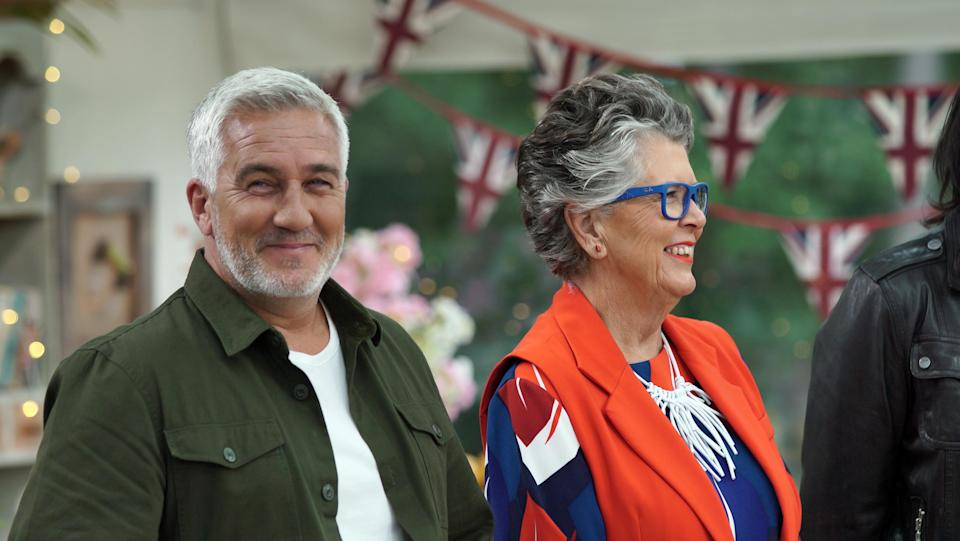 Paul Hollywood and Prue Leith on 'Great British Bake Off'. (Channel 4)