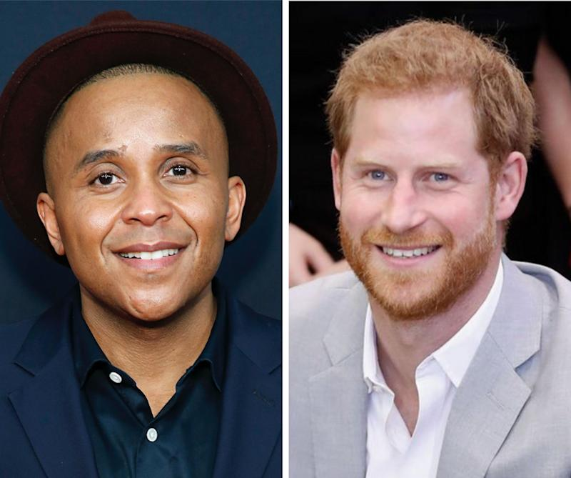 Civil rights activist Rashad Robinson (L), Prince Harry (R)  (Photo: Getty Images)