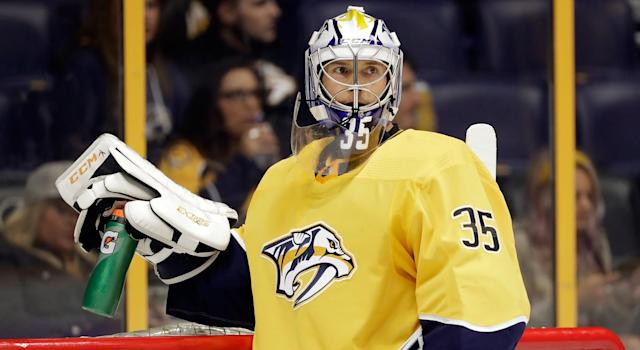 "Can the Predators win a division title with <a class=""link rapid-noclick-resp"" href=""/nhl/players/3764/"" data-ylk=""slk:Pekka Rinne"">Pekka Rinne</a> in goal?"