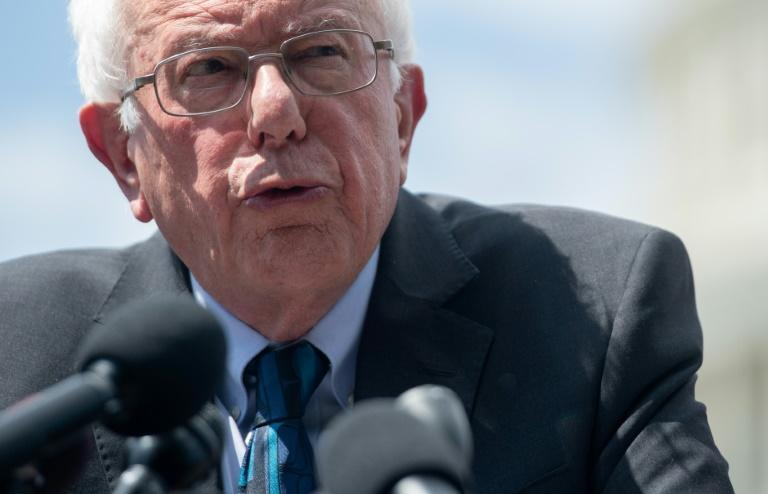 "US Senator Bernie Sanders, pictured in June 2019, said he felt ""great"" following a heart attack (AFP Photo/SAUL LOEB)"
