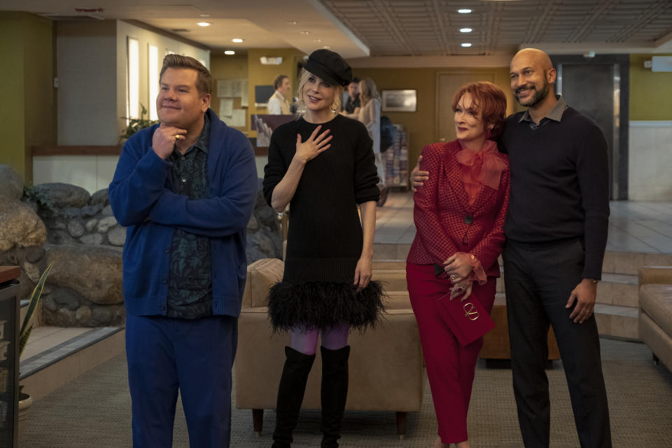 James Corden, Nicole Kidman, Meryl Streep and Keegan-Michael Key star in The Prom (Melinda Sue Gordon/Netflix/PA)