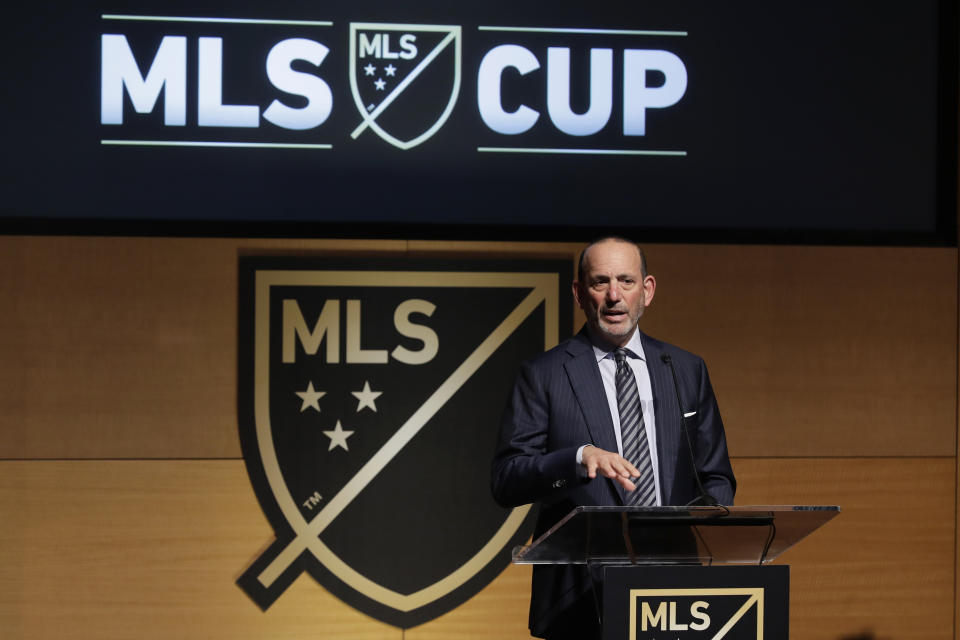"""Charlotte appears to be in the """"front of the line"""" for an MLS expansion team, commissioner Don Garber said Friday. (AP/Ted S. Warren)"""