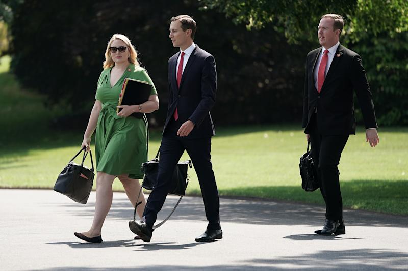 Jared Kushner leaving the White House in July 2019. (Photo by Chip Somodevilla/Getty Images)