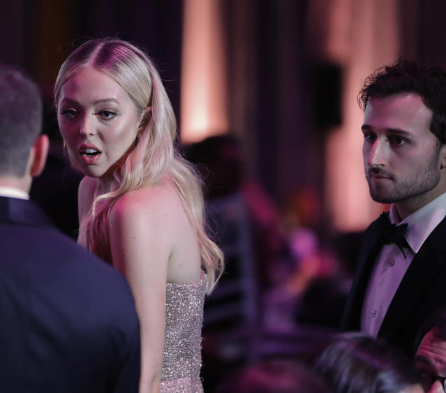 Tiffany Trump attended the dinner aboard the USS Intrepid with her boyfriend, Ross Mechanic. (Photo: AP Images)