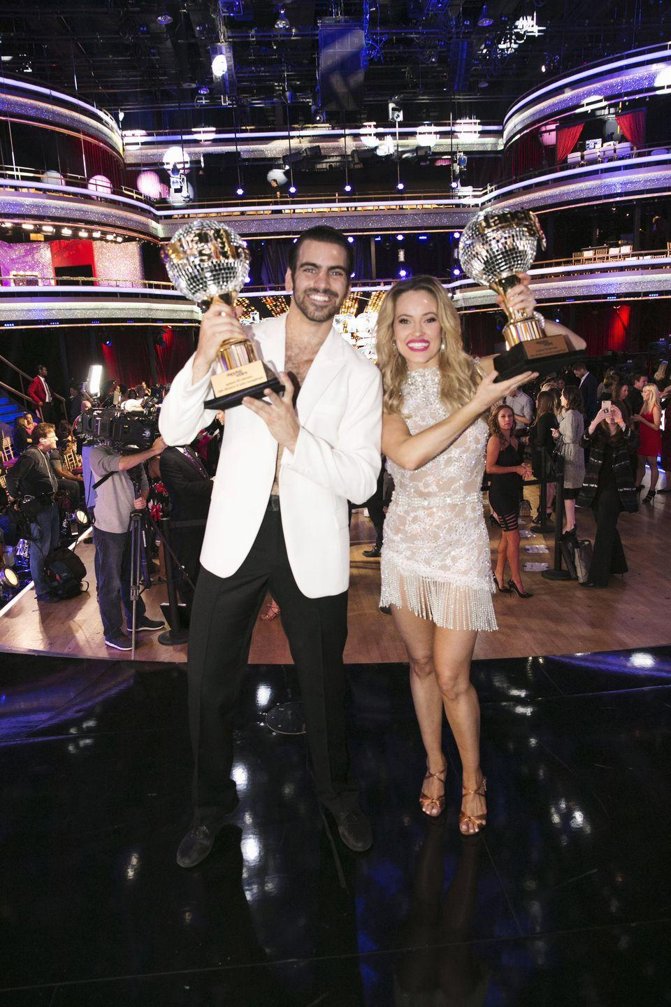 "<p>The model ended up in the hospital on the way to his Mirrorball Trophy win in season 22. Nyle had an accident during rehearsal that required stitches, <a href=""https://www.eonline.com/news/750681/why-nyle-dimarco-ended-up-in-the-hospital-before-his-breakout-dancing-with-the-stars-performance"" rel=""nofollow noopener"" target=""_blank"" data-ylk=""slk:E! News"" class=""link rapid-noclick-resp""><em>E! News</em> </a>reported. ""Actually, it's kind of funny because it was one of our best rehearsals to date and it was a great day,"" Nyle told the publication. ""And we wanted to do one last run—don't ever say that, don't ever say the last run because then I got elbowed in the eyebrow! Four stitches later, it healed beautifully though!"" </p>"