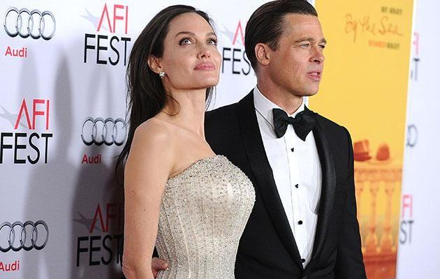 Brad and Angelina in 2015. Source: Getty