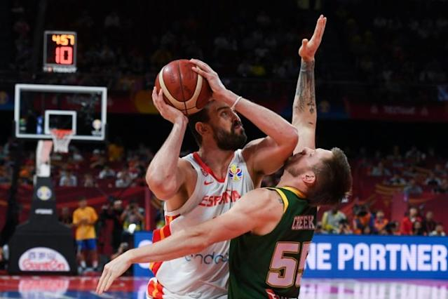 Spain beat Australia in a thrilling match to reach the Basketball World Cup final (AFP Photo/Greg BAKER)