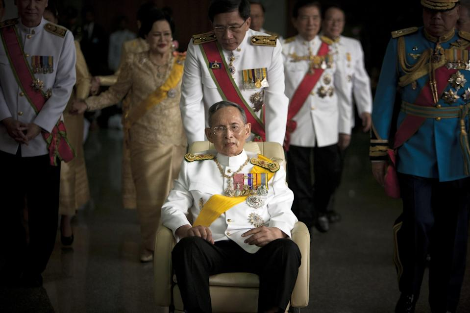 <p>Thailand's crowned king Bhumibol Adulyadej died on Oct. 13, 2016 at 88 from kidney failure. Photo from Getty Images </p>