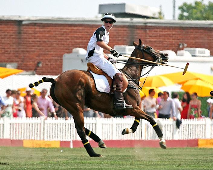<p>He must not have thought he had a career in baseball in his future, because the next day Prince Harry was competing in the Veuve Clicquot Polo Classic. </p>