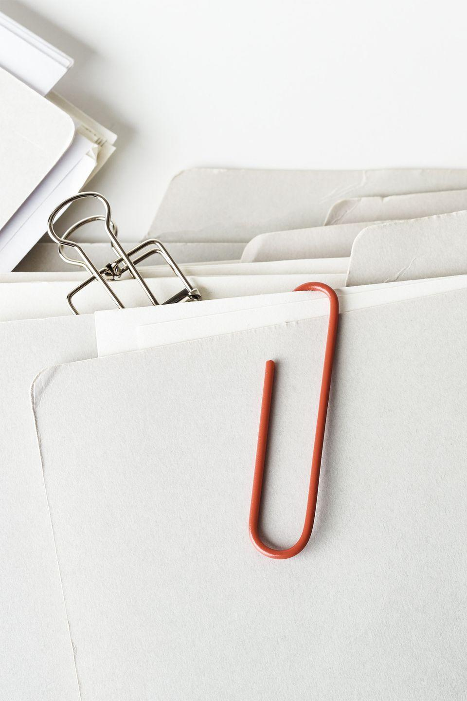 """<p>To organize smaller projects, write contact details on the front of the file folder.</p><p><strong><a class=""""link rapid-noclick-resp"""" href=""""https://www.amazon.com/AmazonBasics-File-Folders-Letter-Manila/dp/B01LYHE49W/?tag=syn-yahoo-20&ascsubtag=%5Bartid%7C10070.g.3310%5Bsrc%7Cyahoo-us"""" rel=""""nofollow noopener"""" target=""""_blank"""" data-ylk=""""slk:SHOP FILE FOLDERS"""">SHOP FILE FOLDERS</a></strong></p>"""