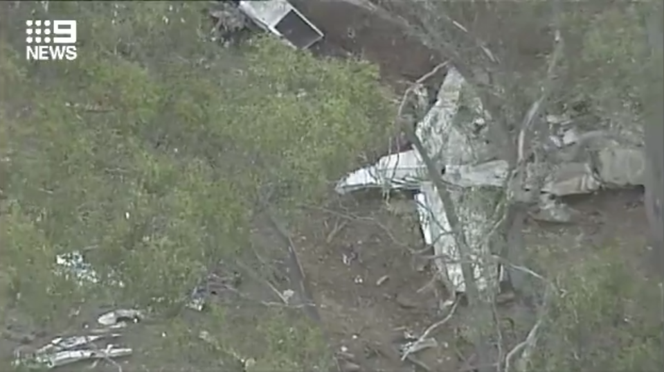 One of the planes involved was privately owned while the other was registered to flight school Moorabbin Aviation Services. Source: Nine News