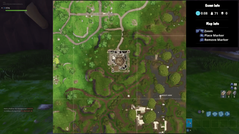 Fortnite bench ice cream truck map