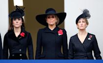 """<p>When abroad every royal member must pack an all-black outfit in their suitcase, in case of a sudden death. The packing requirement guarantees they'd be dressed appropriately upon return home to England, <a rel=""""nofollow noopener"""" href=""""https://www.indy100.com/article/royal-family-pack-extra-outfit-morbid-reason-death-queen-wardrobe-7867386"""" target=""""_blank"""" data-ylk=""""slk:according to"""" class=""""link rapid-noclick-resp"""">according to</a> <em>The Independent</em>. </p>"""