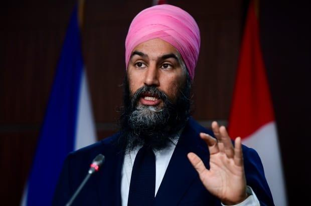 NDP Leader Jagmeet Singh holds a press conference on Parliament Hill in Ottawa on Wednesday, Dec. 9, 2020. (THE CANADIAN PRESS/Sean Kilpatrick - image credit)