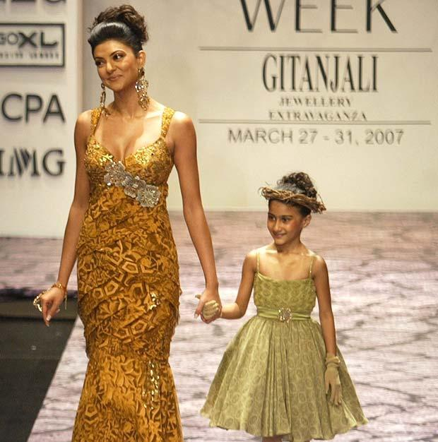 """No one agreed with me, but hats off to my little one… She's proved everybody wrong! She speaks her own mind and has her own sense of discipline..."" - Sushmita Sen"