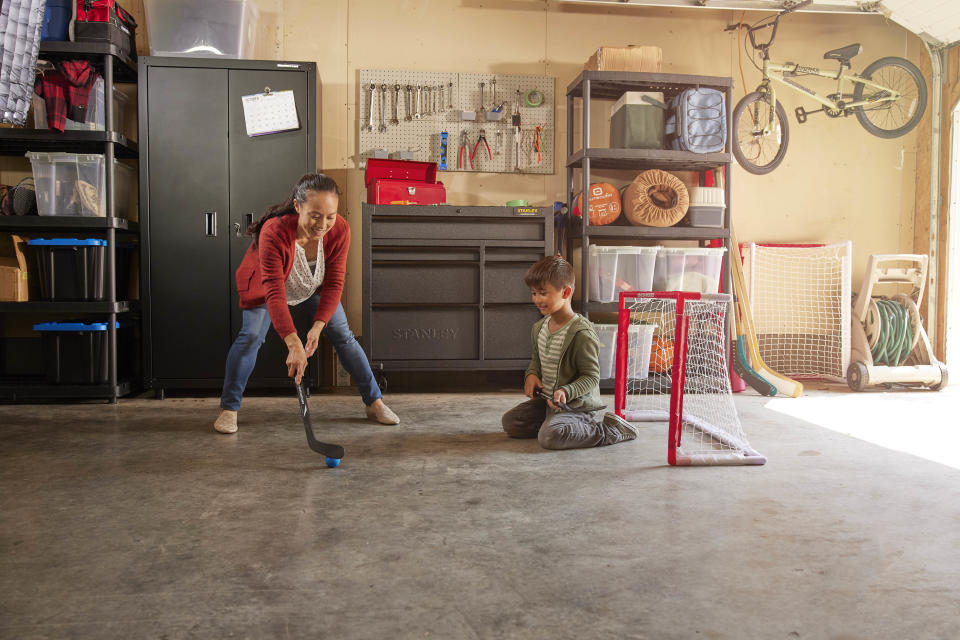 Garage organization with storage ideas from Canadian Tire