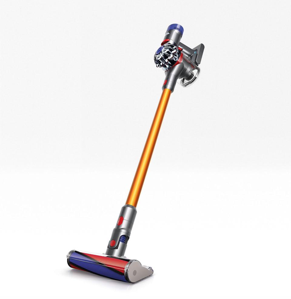"""<strong><h2><a href=""""https://www.dyson.com/sticks/dyson-v8-absolute-yellow.html"""" rel=""""nofollow noopener"""" target=""""_blank"""" data-ylk=""""slk:Dyson"""" class=""""link rapid-noclick-resp"""">Dyson</a></h2></strong><br><strong>Dates:</strong> <strong>Now - September 7</strong><br>There's arguably nothing better than having a vacuum that works for you and with Dyson's decades-long reputation as being the best in the business, you can feel confident in your purchase and satisfied knowing you're getting the best deal. Savings on Dyson products can be found at other retailers, including <a href=""""https://www.amazon.com/Dyson-Absolute-Cordless-Vacuum-Cleaner/dp/B01IENFJ14/ref=sr_1_3?dchild=1&keywords=Dyson+V8+Absolute+vacuum+cleaner&qid=1598483057&sr=8-3"""" rel=""""nofollow noopener"""" target=""""_blank"""" data-ylk=""""slk:Amazon"""" class=""""link rapid-noclick-resp""""><strong>Amazon</strong></a> and <a href=""""https://www.bedbathandbeyond.com/store/brand/dyson/162/_stick-vacuum/Q0FURUdPUllfSElFUkFSQ0hZOiIxLzEwMDA1X1N0b3JhZ2UgJiBDbGVhbmluZyJ8fHNfZl9iaW5Qcm9kdWN0X1R5cGU6IlN0aWNrIFZhY3V1bSI=?ta=typeahead&SearchTerm=dyson"""" rel=""""nofollow noopener"""" target=""""_blank"""" data-ylk=""""slk:Bed Bath and Beyond"""" class=""""link rapid-noclick-resp""""><strong>Bed Bath and Beyond</strong></a>.<br><br><strong>Dyson</strong> Dyson V8 Absolute vacuum cleaner, $, available at <a href=""""https://go.skimresources.com/?id=30283X879131&url=https%3A%2F%2Fwww.dyson.com%2Fsticks%2Fdyson-v8-absolute-yellow.html"""" rel=""""nofollow noopener"""" target=""""_blank"""" data-ylk=""""slk:Dyson"""" class=""""link rapid-noclick-resp"""">Dyson</a>"""