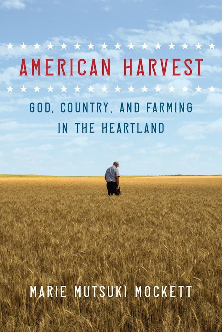 "A book jacket for ""American Harvest"" by Marie Mutsuki Mockett."