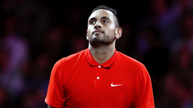 A female supporter made Nick Kyrgios lose focus at the Laver Cup.