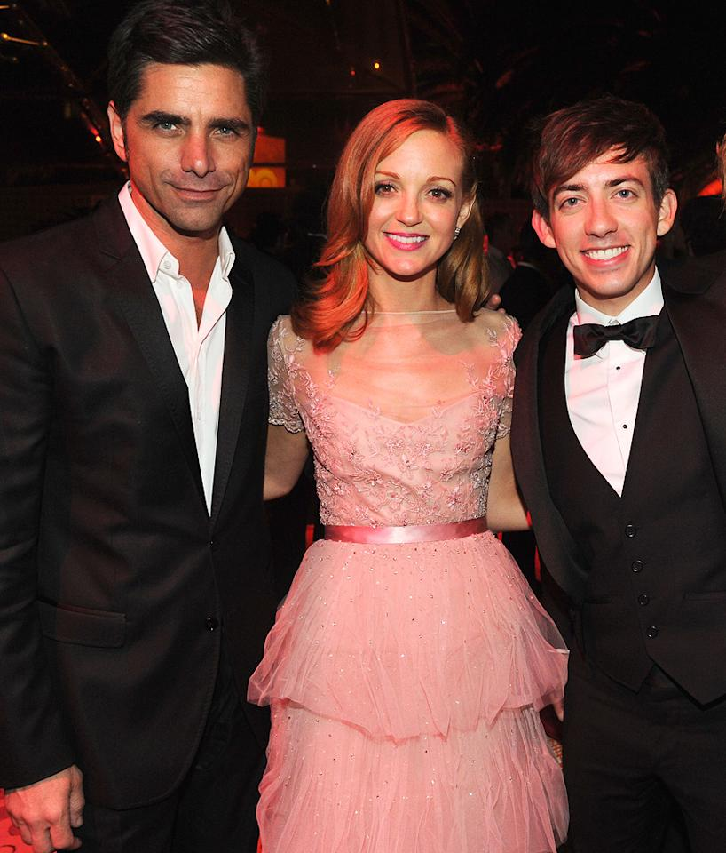 "Former ""Full House"" hunk John Stamos was spotted hanging out with ""Glee"" stars Jayma Mays and Kevin McHale at HBO's official after party, which was held at the Pacific Design Center in West Hollywood, California. Jeff Kravitz/<a href=""http://www.filmmagic.com/"" target=""new"">FilmMagic.com</a> - September 18, 2011"