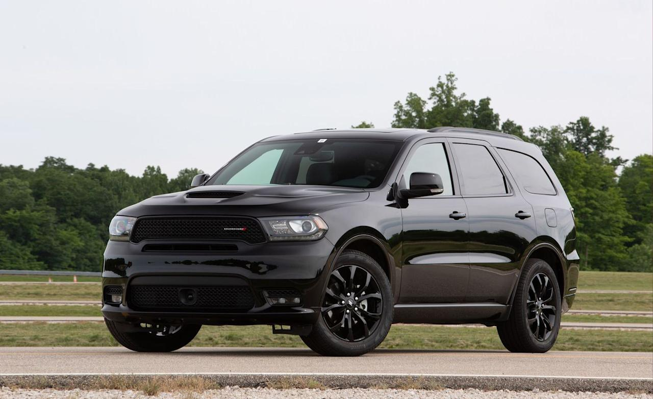 """<p>The Dodge Durango isn't the most contemporary SUV on this list, but it offers the only V-8 engine and the biggest towing capacity. Every rival listed (except the Nissan Pathfinder) can tow only up to 5000 pounds, but the strongest Durango-that means the rear-wheel-drive V-8 version-can pull 7400 pounds. Surprisingly, the more powerful engine was more fuel efficient than the standard V-6 in our real-world testing. The V-8 exceeded its EPA-rated 22 mpg highway by 1 mpg, whereas the smaller engine missed its highway estimate by 3 mpg, returning 22. The base Durango starts at $31,690, while the cheapest V-8 model costs $45,490, which represents a significant investment. Regardless, the Dodge satisfies high-riding enthusiasts with the loftiest seating height in this set, at 31.6 inches. It holds eight people with the standard second-row bench; the optional captain's chairs reduce capacity by one. The second row has 38.6 inches of legroom, while the third row offers an ample 33.5 inches. However, the Durango's 32.0-inch lift-over height is one of the highest. We fit four carry-on bags in the cargo area behind the third row, which measures 17 cubic feet. While the Durango hasn't been crash-tested by NHTSA and isn't an IIHS Top Safety Pick, most models are available with driver assists, including automated emergency braking and blind-spot monitoring. The only desirable infotainment option is a rear-seat entertainment system; a mobile hotspot isn't offered.</p><p><a rel=""""nofollow"""" href=""""https://www.caranddriver.com/dodge/durango"""">Learn More</a></p>"""