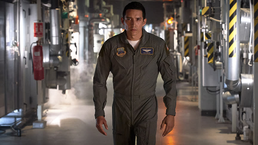 <p>We're not sure what model Terminator Luna will be playing, but let's just assume he's advanced tech. And that he'll pilot a fighter jet at some point? That's just going by his costume. </p>