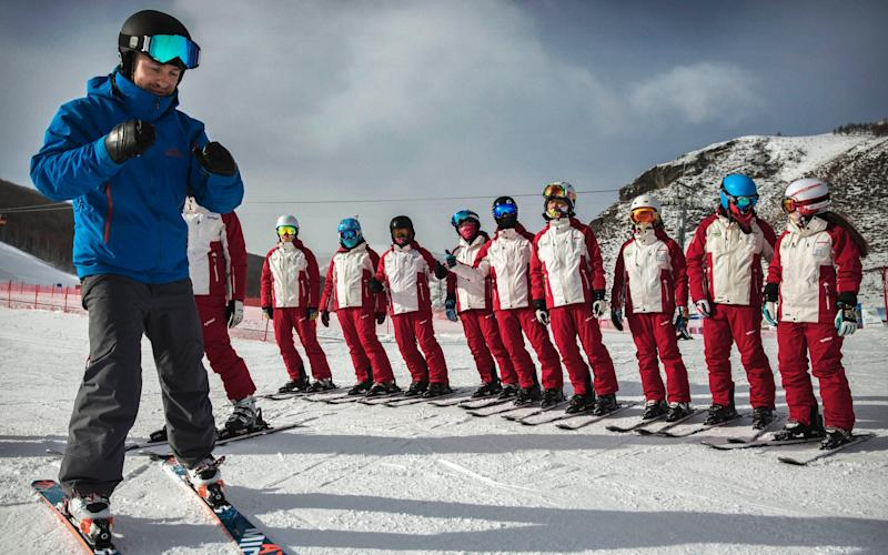 International ski instructors have been brought in to teach the growing number of skiers in China - 2016 Getty Images