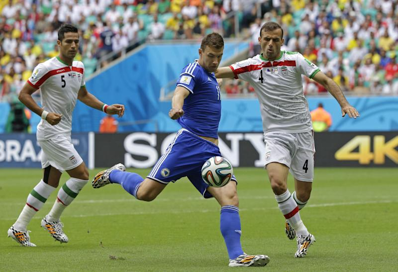Bosnia beats Iran 3-1 in Group F at World Cup