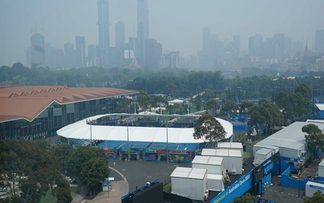 The Melbourne skyline shrouded by haze from bushfires - REUTERS