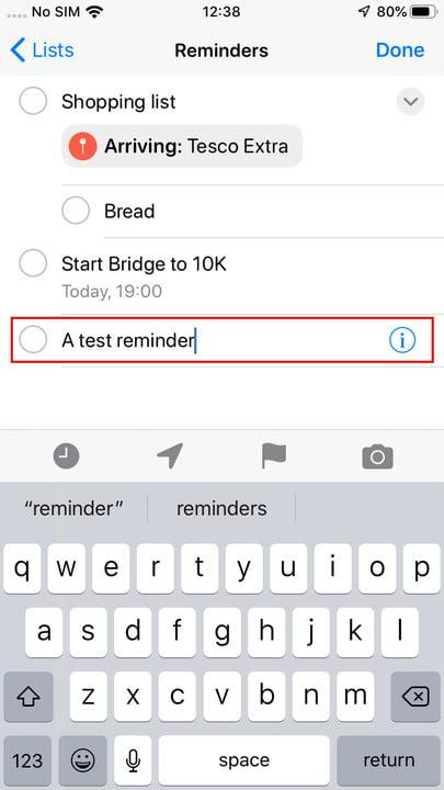 how to use reminders in ios 13 creating reminder 3