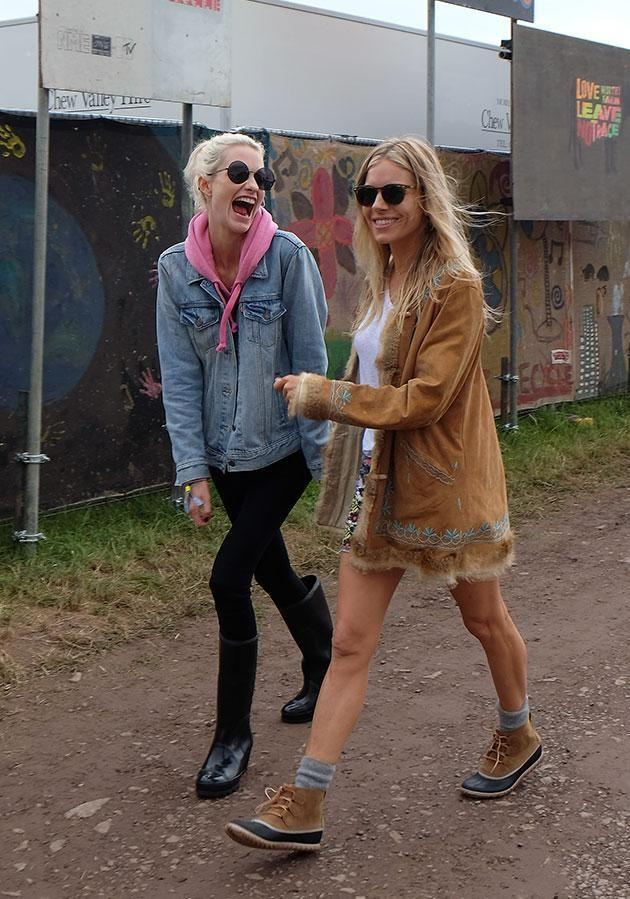 Sienna was also spotted at the festival with pals. Source: Getty