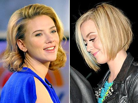 Scarlett Johansson, Katy Perry Go Back to Blonde!