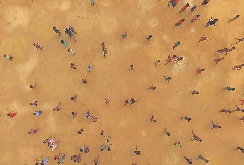 "A ""Human Flow"" still image in the Kutupalong refugee camp in Ukhia, Bangladesh. (Amazon Studios / Lionsgate Entertainment)"