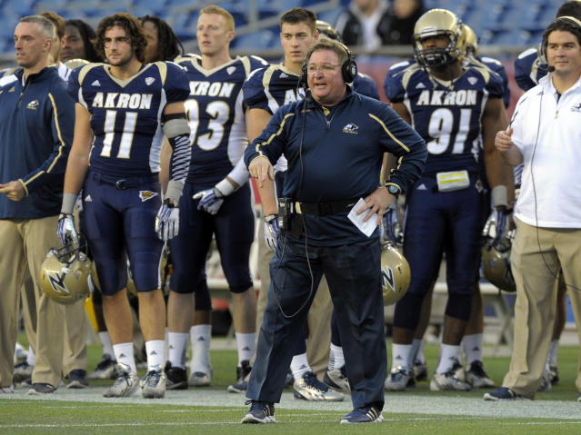 Check out Akron's new gold chrome helmets (Photo)