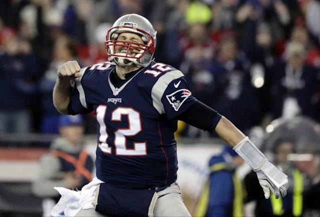 Tom Brady and the Patriots are favored over Atlanta in Super Bowl LI. (AP)