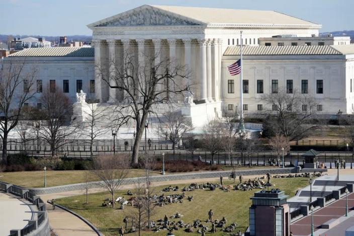 FILE PHOTO: View of the Supreme Court in Washington