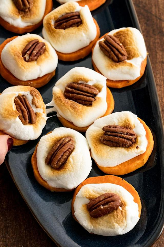 """<p>It's Christmas...start your meal off with something sweet.</p><p>Get the recipe from <a href=""""https://www.delish.com/cooking/recipe-ideas/recipes/a50000/sweet-potato-bites-recipe/"""" target=""""_blank"""">Delish</a>.</p>"""