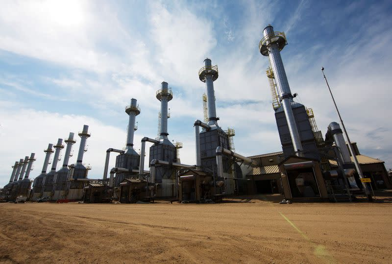 FILE PHOTO: Rows of steam generators line a road at the Cenovus Energy Christina Lake SAGD project south of Fort McMurray, Alberta, Canada