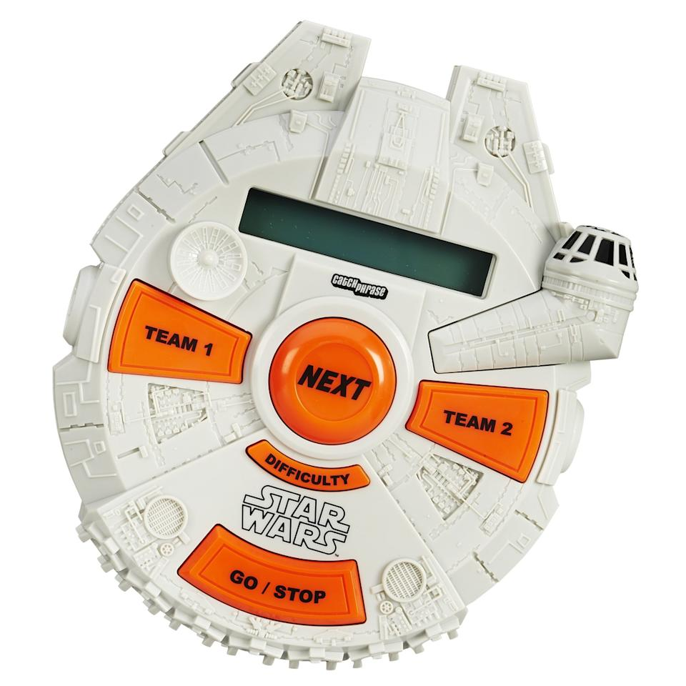 <p>Test your knowledge of 'Star Wars' lingo with this new Hasbro game. The toy company has also debuted 'Star Wars'-style 'Monopoly' and 'Risk' games as well as an R2-D2 'Bop It!' (exclusively at Walmart) and a kids game called 'Loopin' Chewie.'</p>