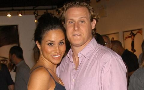 <span>Meghan Markle and Trevor Engelson in 2006</span> <span>Credit: Billy Farrell/Patrick McMullan/Getty </span>