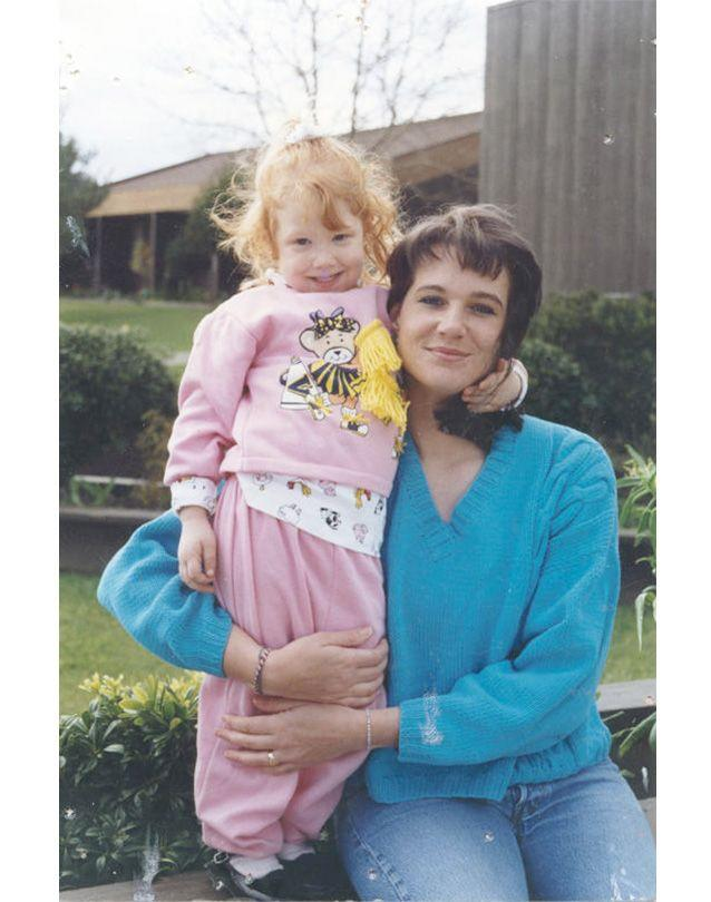 Barbara Scrivner, shortly after arriving in prison, with her young daughter. The minimum-security prison didn't used to require uniforms. Photo: Barbara Scrivner.