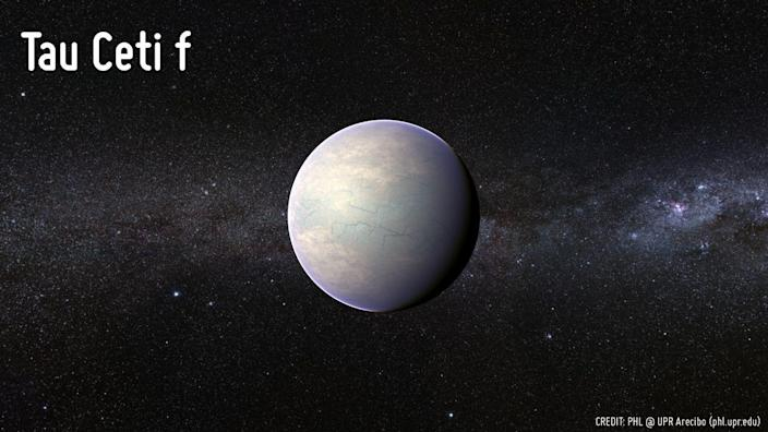 """<p><a href=""""https://www.popularmechanics.com/space/deep-space/news/a27693/for-earth-sized-planets-discovered-around-closest-sun-like-star/"""" rel=""""nofollow noopener"""" target=""""_blank"""" data-ylk=""""slk:Tau Ceti"""" class=""""link rapid-noclick-resp"""">Tau Ceti</a> f is a super Earth exoplanet that orbits a G-type star (visible from Earth) every 1.7 Earth years. It has a mass about 3.93 times Earth's and sits about 12 light-years away.</p><p>But scientists have called into question the habitable status of Tau Ceti f and its neighbor. A 2015 study <a href=""""https://www.space.com/29191-exoplanets-tau-ceti-alien-life.html"""" rel=""""nofollow noopener"""" target=""""_blank"""" data-ylk=""""slk:claimed"""" class=""""link rapid-noclick-resp"""">claimed</a> that the label was generous since the exoplanets didn't enter the habitable zone until cosmically recently—less than a billion years.</p>"""