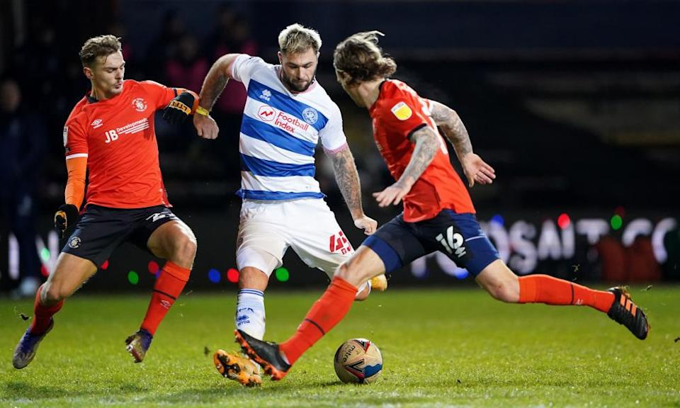 Charlie Austin (centre) made an instant impact for QPR and could be vital to their hopes of staying up.