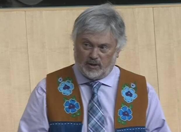 'There seems to be some kind of top secret exposure control plan that [the minister] can't even share any information with me on the floor of this house,' said Frame Lake MLA Kevin O'Reilly Tuesday. (CBC - image credit)