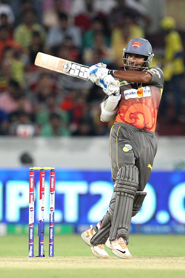 Kumar Sangakkara during match 7 of the Pepsi Indian Premier League between The Sunrisers Hyderabad and Royal Challengers Bangalore held at the Rajiv Gandhi International Stadium, Hyderabad on the 7th April 2013Photo by Prashant Bhoot-IPL-SPORTZPICS Use of this image is subject to the terms and conditions as outlined by the BCCI. These terms can be found by following this link:https://ec.yimg.com/ec?url=http%3a%2f%2fwww.sportzpics.co.za%2fimage%2fI0000SoRagM2cIEc&t=1498567597&sig=cXOBJRNruzV0ckItLU2Ilg--~C