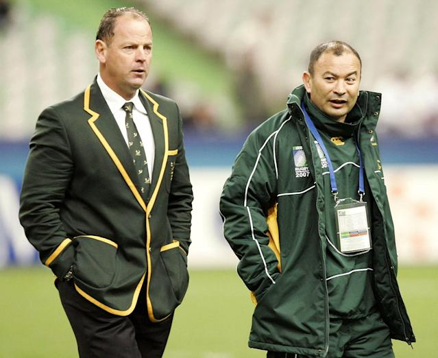 Jake White and Eddie Jones with South Africa in 2007 (Credit: Getty Images)