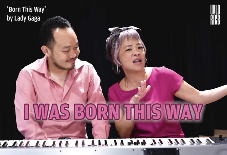 Actress Pam Oei (right) and composer Julian Wong celebrated Pride Month by performing Pride anthems, in this video posted on 3 June 2021.
