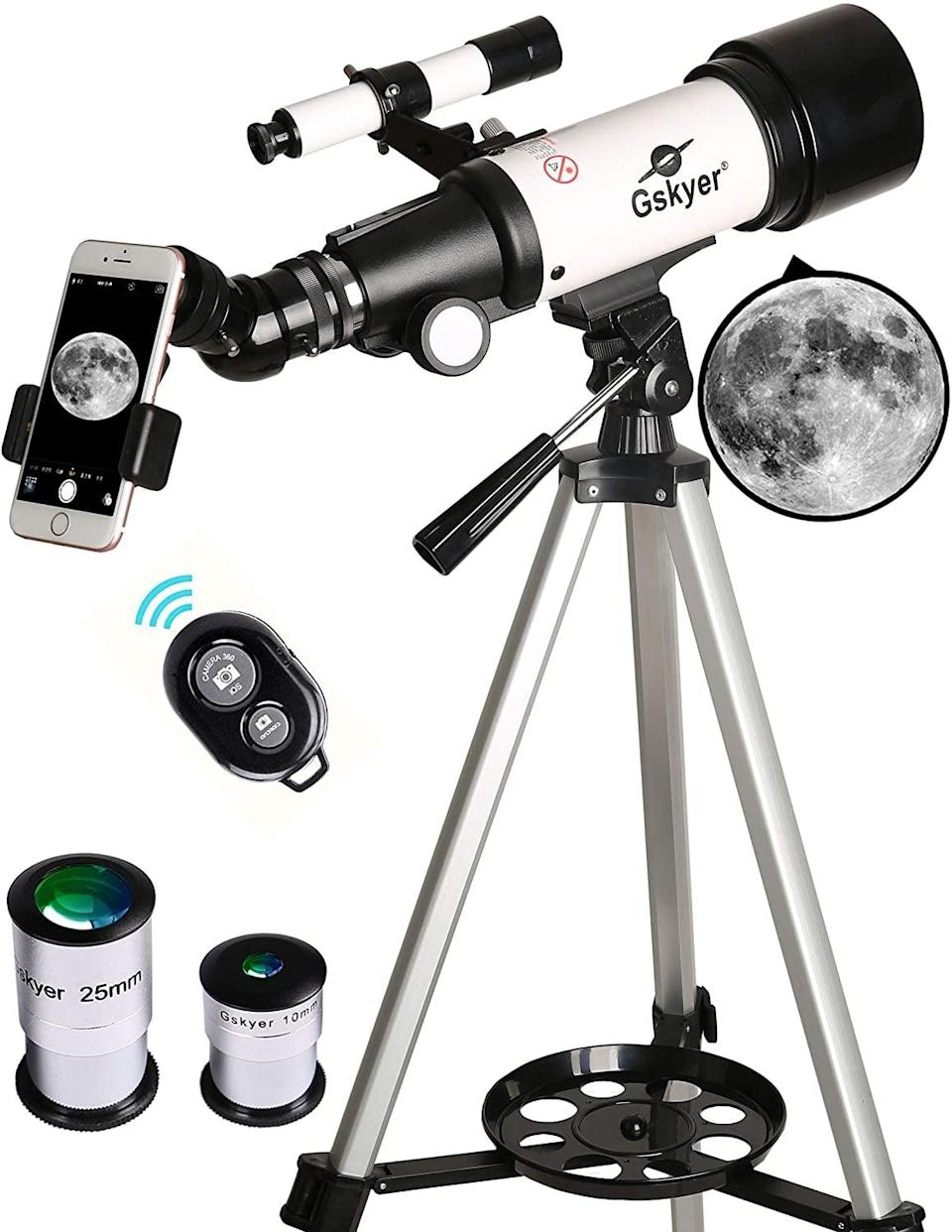 <p>If you love adventure and space the <span>Gskyer Telescope</span> ($100) is a must-have beginners telescope! It's even portable and compatible with your smart phone! </p>