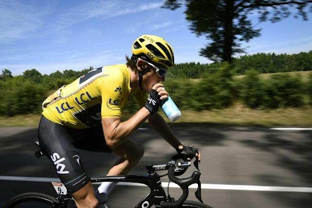 Briton Geraint Thomas wore the coveted Tour de France yellow jersey for four days last year