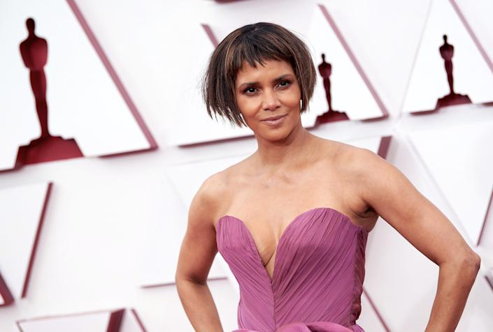 Halle Berry (pictured at the Oscars in April) went topless to show support for Pride. (Photo: Matt Petit/A.M.P.A.S. via Getty Images)